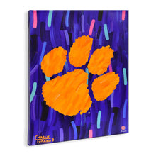 "Load image into Gallery viewer, Clemson Tigers 16"" x 20"" Embellished Giclee"