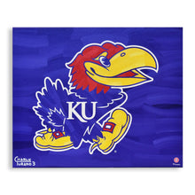 "Load image into Gallery viewer, Kansas Jayhawks 16"" x 20"" Embellished Giclee"
