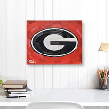 "Load image into Gallery viewer, Georgia Bulldogs 16"" x 20"" Embellished Giclee (Red)"