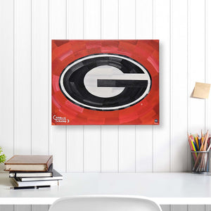 "Georgia Bulldogs 16"" x 20"" Embellished Giclee (Red)"