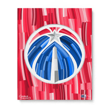 "Load image into Gallery viewer, Washington Wizards 16"" x 20"" Embellished Giclee"