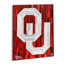 "Load image into Gallery viewer, Oklahoma Sooners 16"" x 20"" Embellished Giclee (Red)"