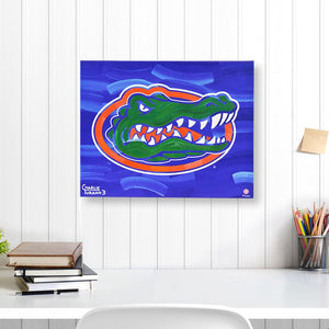 "Florida Gators 16"" x 20"" Embellished Giclee"