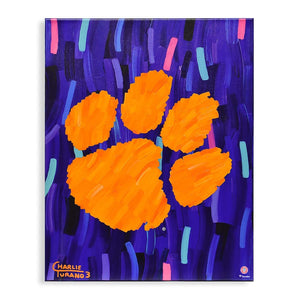 "Clemson Tigers 16"" x 20"" Embellished Giclee"
