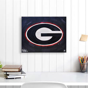 "Georgia Bulldogs 16"" x 20"" Embellished Giclee (Black)"