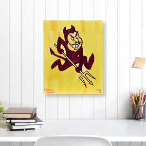 "Arizona State Sun Devils 16"" x 20"" Embellished Giclee (Sparky)"