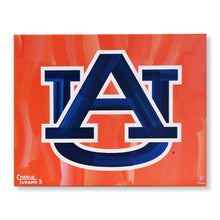 "Load image into Gallery viewer, Auburn Tigers Tide 16"" x 20"" Embellished Giclee"
