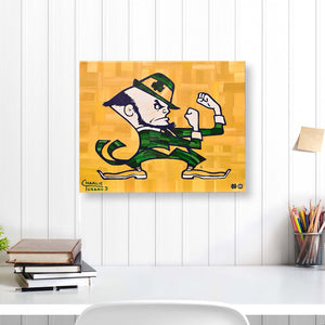 "Notre Dame 16"" x 20"" Embellished Giclee (Leprechaun)"
