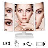 LED 3-sided Mirror