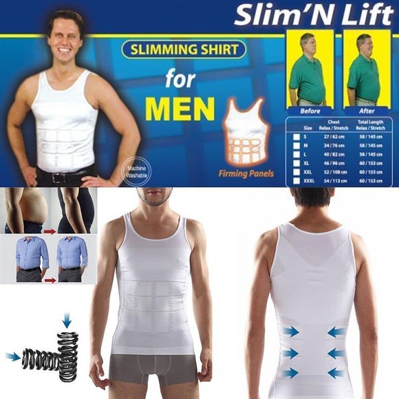 Men's body shaping belly vest