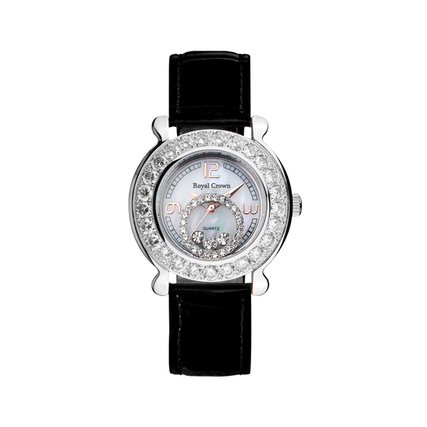 RoyalCrown round diamond women's watch