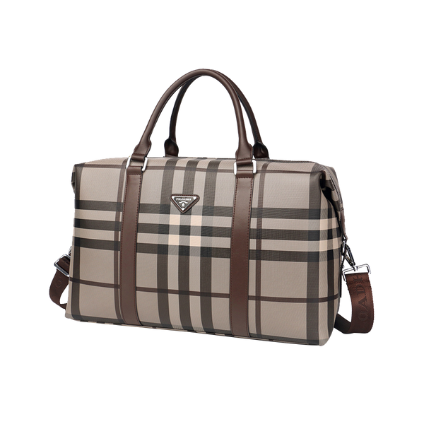 POLOADHR Plaid Traveling Bag