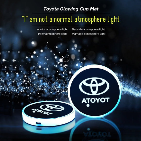 Toyota Glowing Cup Mat