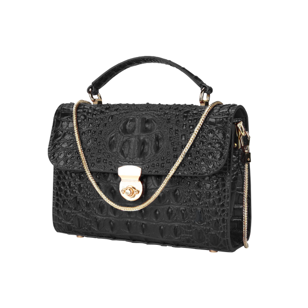 Crocodile Chain Square Bag