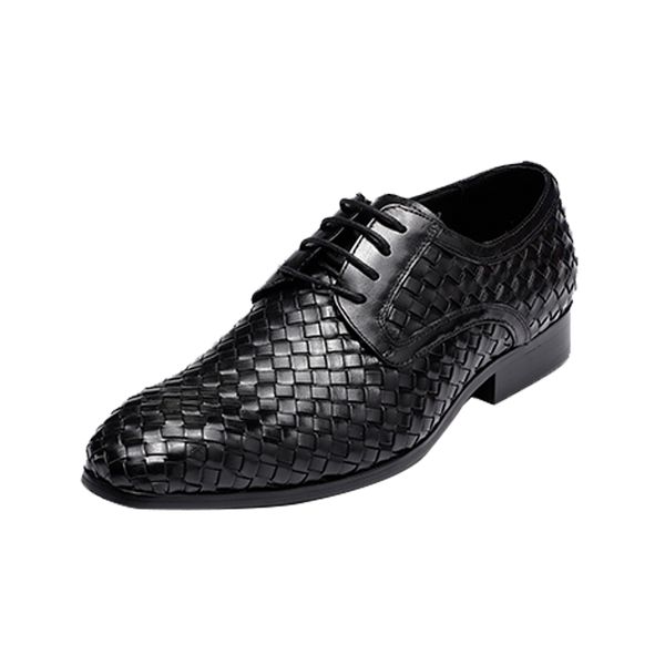 Woven Pattern Leather Shoes