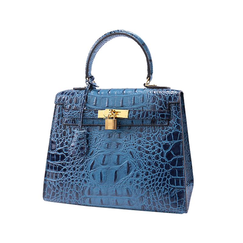 Crocodile Pattern Kelly Bag