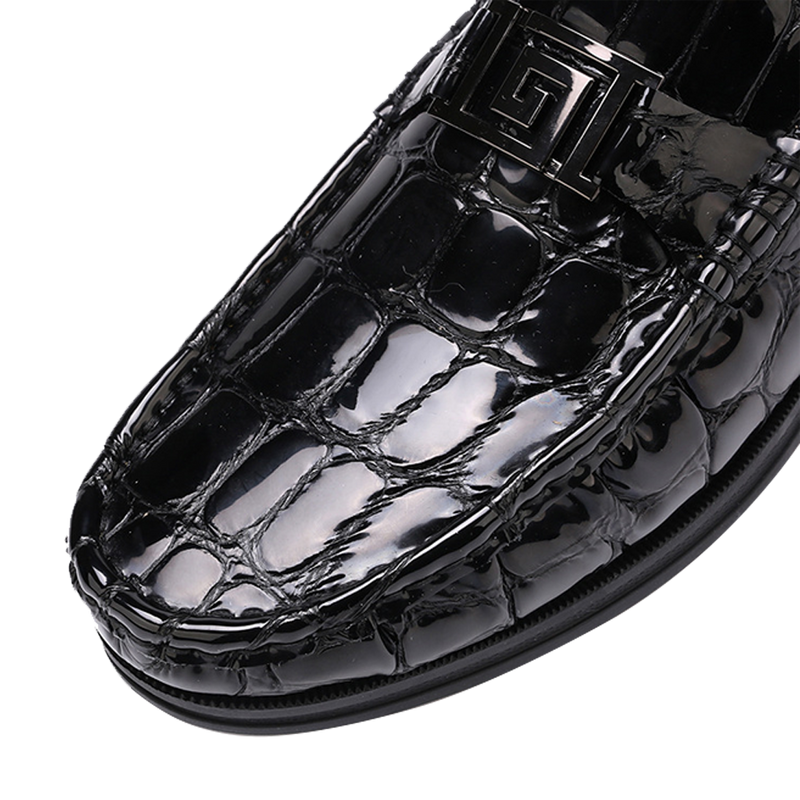 Men's Patent Leather Peas Shoes