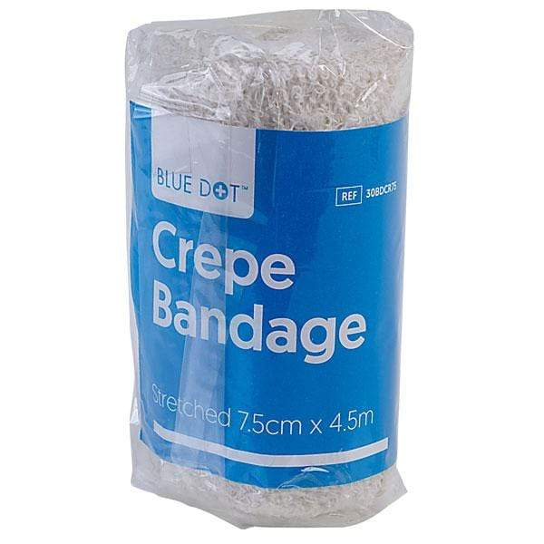 Blue Dot Crepe Bandage