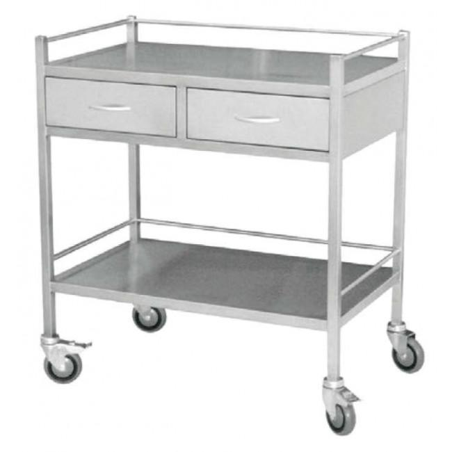 Medical Trolley Large with 2 Drawers 3028