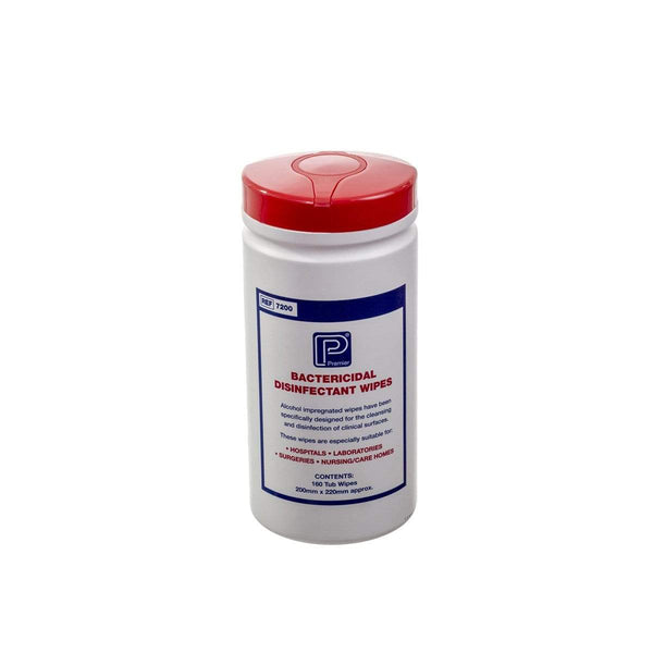 Premier Bactericidal Hard Surface Disinfectant Wipes, tub of 160 2860