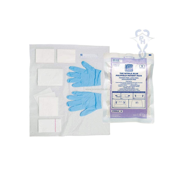 Premier Polyfield Patient Pack With Blue Nitrile Gloves  Pk/20