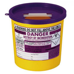 Sharps Bin Purple Lid 2.5 Litre 7494