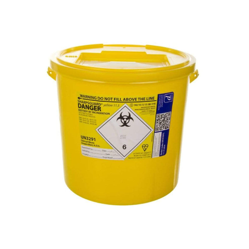 Sharpsguard Yellow Sharps Bin 7489