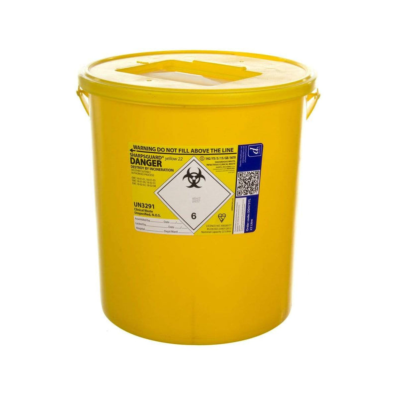 Sharpsguard Yellow Sharps Bin 7490