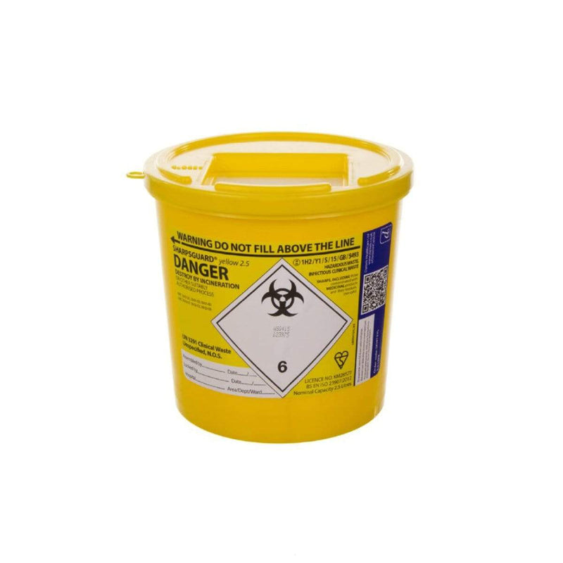 Sharpsguard Yellow Sharps Bin 9712