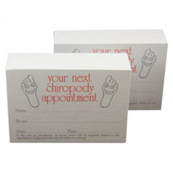Chiropody Appointment Cards 9997