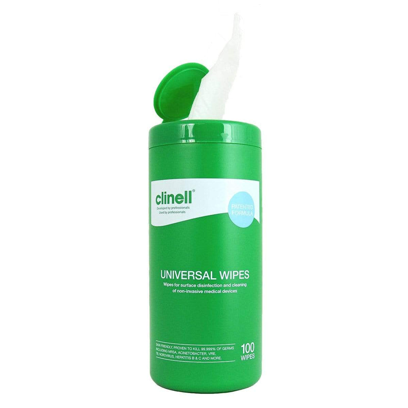 Clinell Universal Wipes – 250 x 200mm Tub of 100 3109
