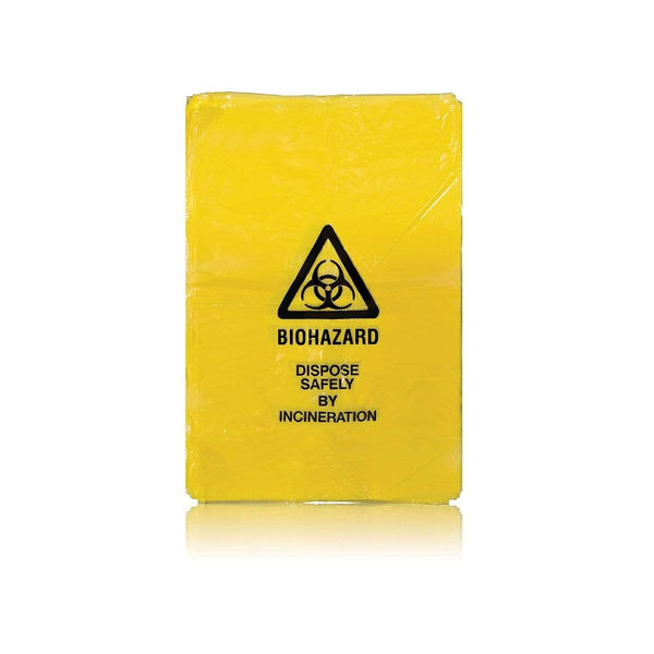 Clinical Waste Plastic Bag Roll of 100 7612