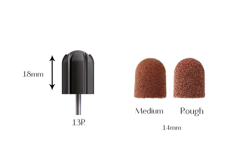 Disposable 13R Abrasive Caps, pk10 3030-ME