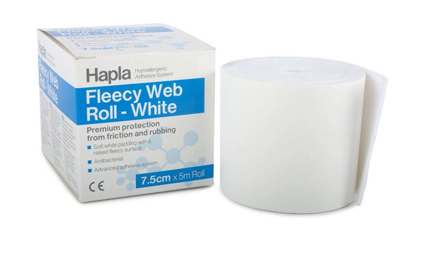 Hapla Fleecy Web White, roll 4481