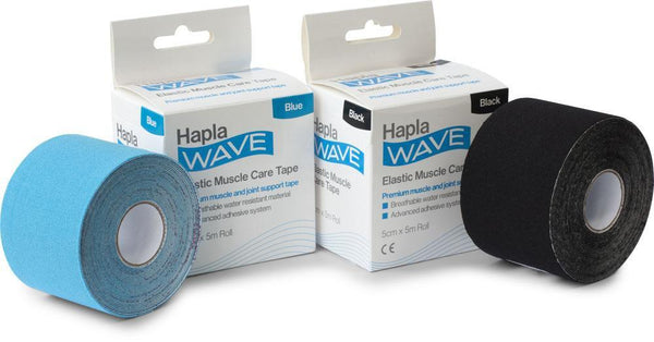 Hapla Wave Kinesiology Tape 8460-BK