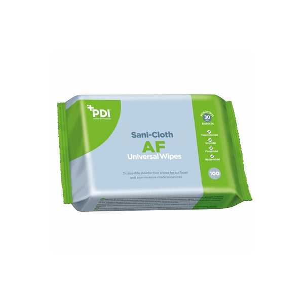PDI Sanisafe AF Universal Disinfectant Wipes, Pack of 100 2861