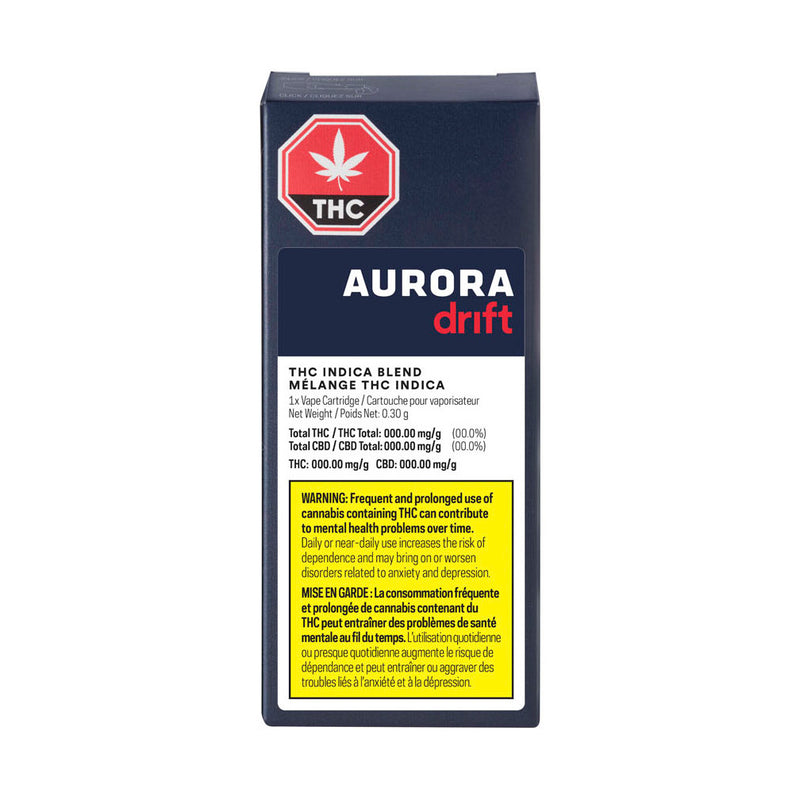 Aurora Drift Indica Blend Vape Cartridge