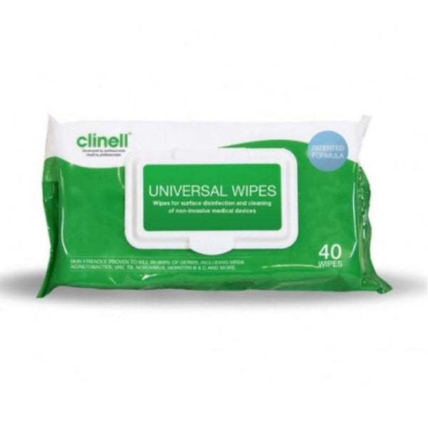 Just Care Beauty Clinell Detergent Wipes Pk/40