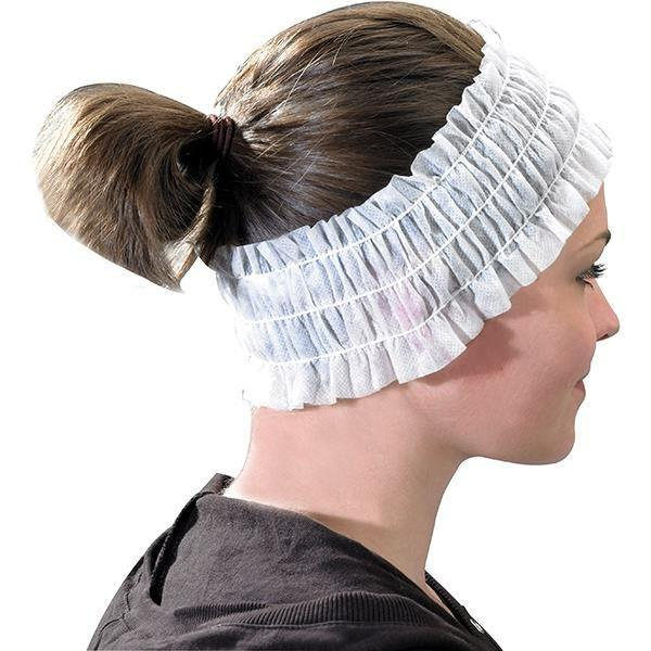 Just Care Beauty Products Disposable Head Bands White Pk/100