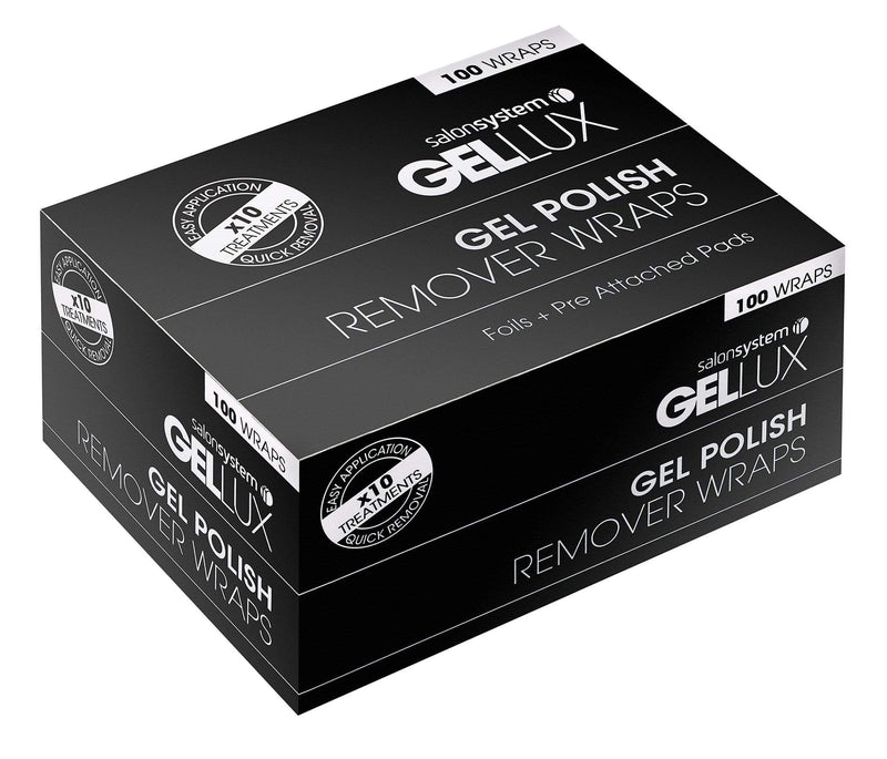 Just Care Beauty Products Gellux Gel Polish Remover Wraps Pack 100