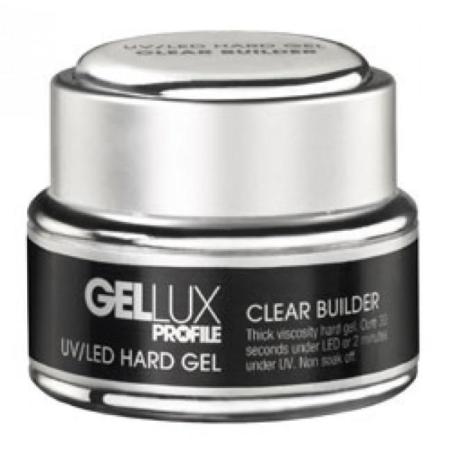 Just Care Beauty Products Gellux UV/LED Hard Gel Clear Builder 15ml