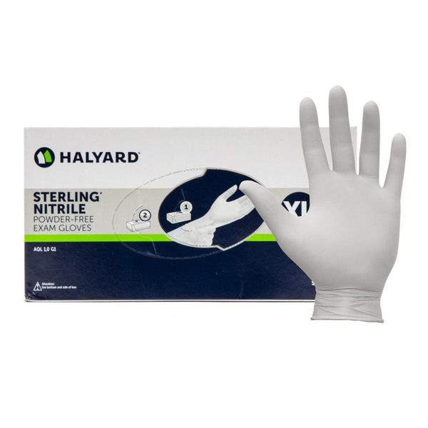 Just Care Beauty Halyard Sterling Nitrile Powder Free Gloves Pk 200
