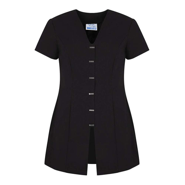 Just Care Beauty Products 8 / Black Jurisa Front Buttoning Tunic