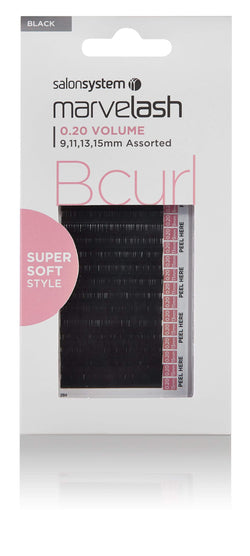 Salon System Products Marvelash B Curl Super Soft Lash Extensions