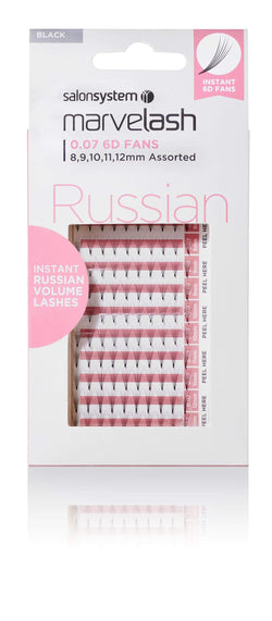 Salon System Products Marvelash Instant Russian Volume 6D Fan Lashes