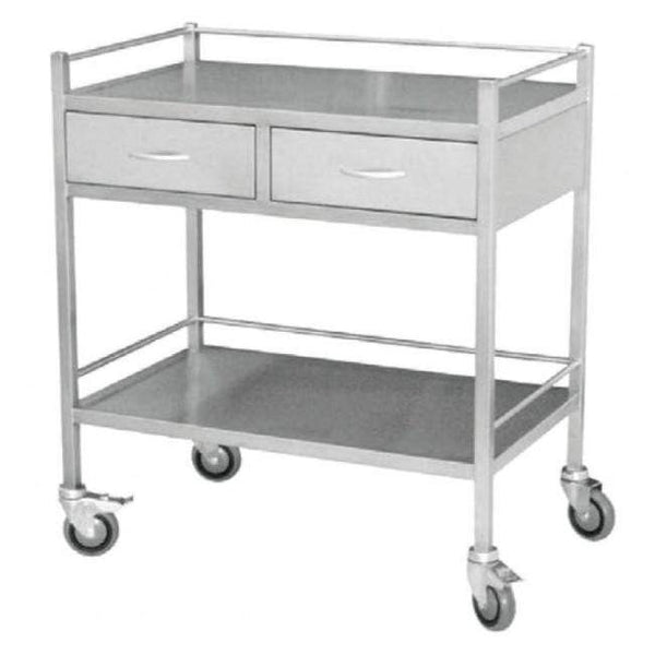 Just Care Beauty Furniture Medical Trolley Large with 2 Drawers