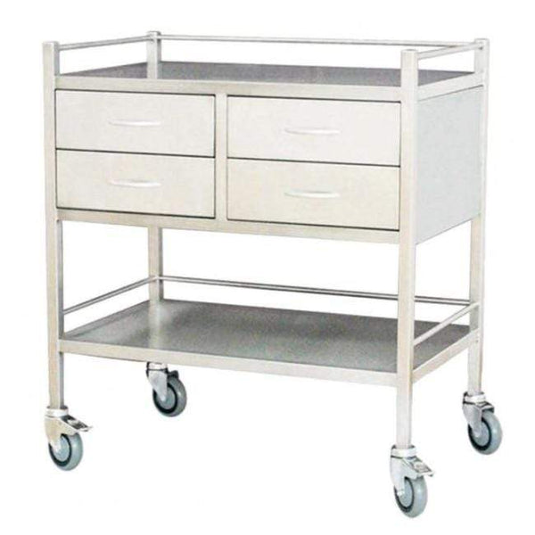 Just Care Beauty Furniture Medical Trolley Large with 4 Drawers