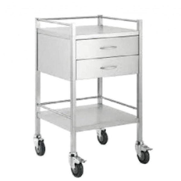 Just Care Beauty Furniture Medical Trolley Small with 2 Drawers
