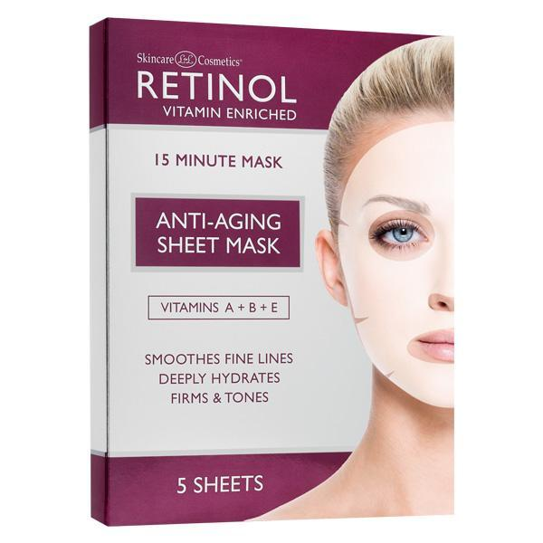 Just Care Beauty Products Retinol Vitamin A 15 Minute Mask Pk/5