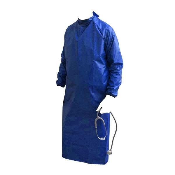 Just Care Beauty PPE Medium Blue Waterproof Washable Gown Pk 1